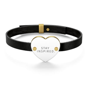 Stay Inspired. Leather Bracelet 💍