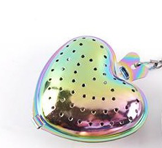 RAINBOW VIBES HEART SHAPED INFUSER  - $11.95