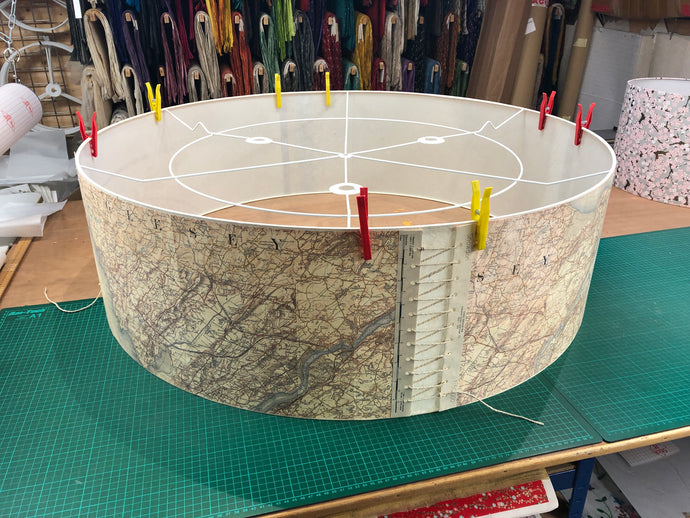 One Extra Large Map Lamp Shade!