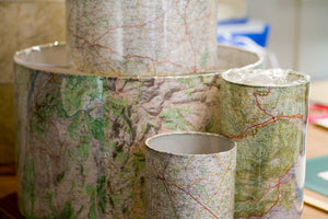 Bespoke Michelin Map Lamp Shades!