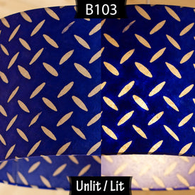 B103 ~ Royal Blue Batik Tread Plate