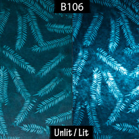 B106 ~ Resistance Dyed Teal Fern