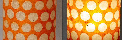 View Full Range of Products in B110 ~ Batik Dots on Orange