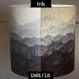 Hand Inked on plain Lokta Lampshades