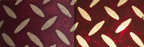 View Full Range of Products in P14 - Batik Tread Plate Cranberry