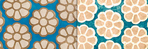 View Full Range of Products in P23 - Batik Big Flower on Teal