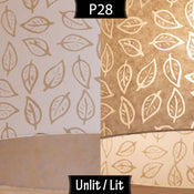P28 ~ Batik Leaf on Natural