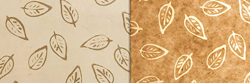 View Full Range of Products in P28 - Batik Leaf on Natural