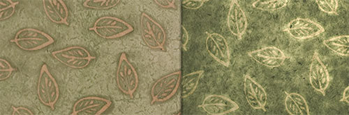 View Full Range of Products in P29 - Batik Leaf on Green