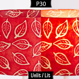 P30 Batik Leaf on Red