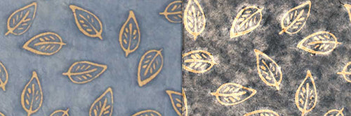 View Full Range of Products in P31 - Batik Leaf on Blue