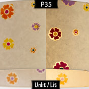 P35 ~ Batik Multi Flower on Natural