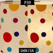 P39 ~ Polka Dots on Natural Lokta