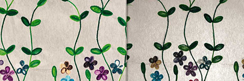 View Full Range of Products in P43 - Embroidered Flowers on White
