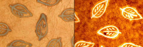 View Full Range of Products in P66 - Batik Leaf on Camel