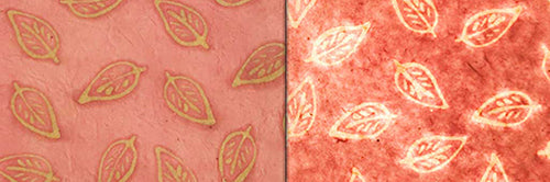 View Full Range of Products in P67 - Batik Leaf on Pink