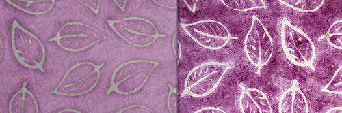 View Full Range of Products in P68 - Batik Leaf on Purple