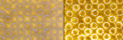 View Full Range of Products in P71 - Batik Yellow Circles