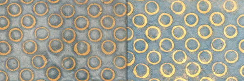 View Full Range of Products in P72 - Batik Blue Circles