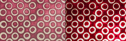 View Full Range of Products in P73 - Batik Cranberry Circles