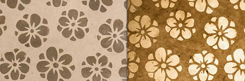View Full Range of Products in P75 - Batik Star Flower on Natural