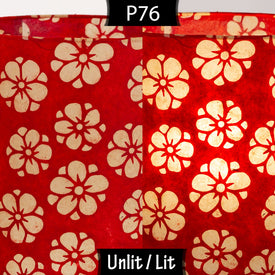 P76 Batik Star Flowers on Red Lokta