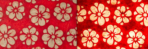 View Full Range of Products in P76 - Batik Star Flower on Red