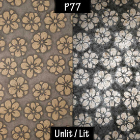 P77 Batik Star Flowers on Grey Lokta