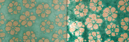 View Full Range of Products in P80 - Batik Star Flower Mint Green
