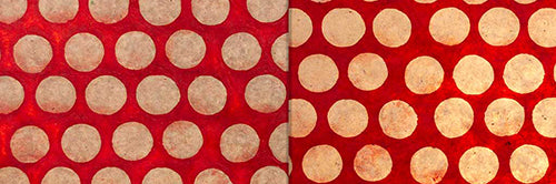 View Full Range of Products in P84 - Batik Dots on Red