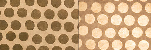 View Full Range of Products in P85 - Batik Dots on Natural