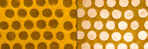 View Full Range of Products in P86 - Batik Dots on Yellow