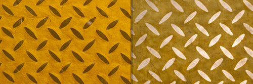 View Full Range of Products in P89 - Batik Tread Plate Yellow