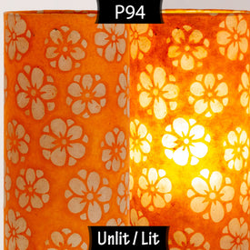P94 - Batik Star Flower on Orange