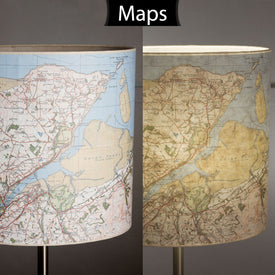 Handmade Map Lamp Shades