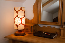 Drum Lamp Shade - P20 - Batik Big Flower on Brown, 15cm(d) x 30cm(h)