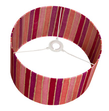 Drum Lamp Shade - P04 - Batik Stripes Pink, 35cm(d) x 20cm(h) - Imbue Lighting