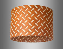 Drum Lamp Shade - P12 - Batik Tread Plate Brown, 30cm(d) x 20cm(h) - Imbue Lighting