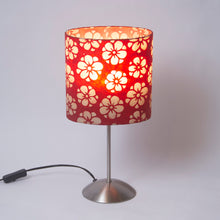 Tall Stem Table Lamp Base with Oval Lamp Shade P76 (20cm wide x 20cm high x 13cm deep)