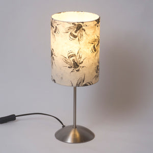 Tall Stem Table Lamp Base with Drum Lamp Shade P42 (15cm wide x 20cm high)
