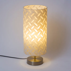 Round Antique Brass Effect Touch activated Table Lamp Base - Imbue Lighting