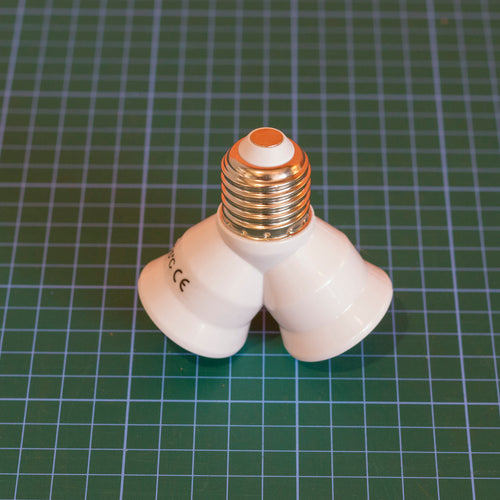 E27 LED Bulb Splitter -  1x E27 to 2x E27
