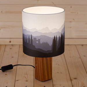 Landscape #1 Print Table Lamp - Blue
