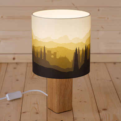 Landscape #1 Print Table Lamp - Yellow