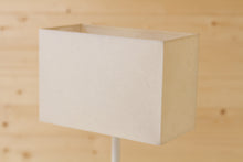 Rectangle Lamp Shade - P54 - Natural Lokta, 30cm(w) x 20cm(h) x 15cm(d)