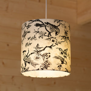 Drum Lamp Shade - P41 - Oriental Birds, 20cm(d) x 20cm(h)