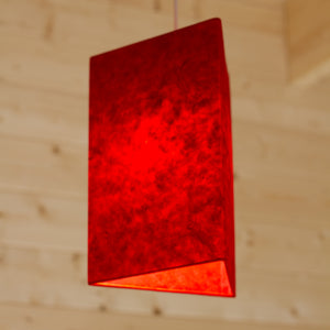 Triangle Lamp Shade - P60 - Red Lokta, 20cm(w) x 30cm(h)