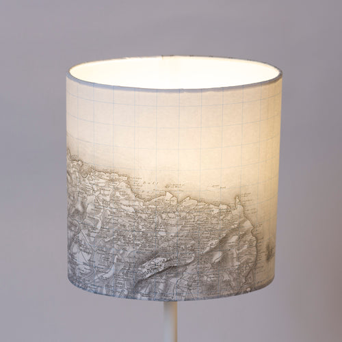 20cm(w) x 20cm(h) x 13cm(d) Oval Lamp Shade - Cassini Historical Map (1840)