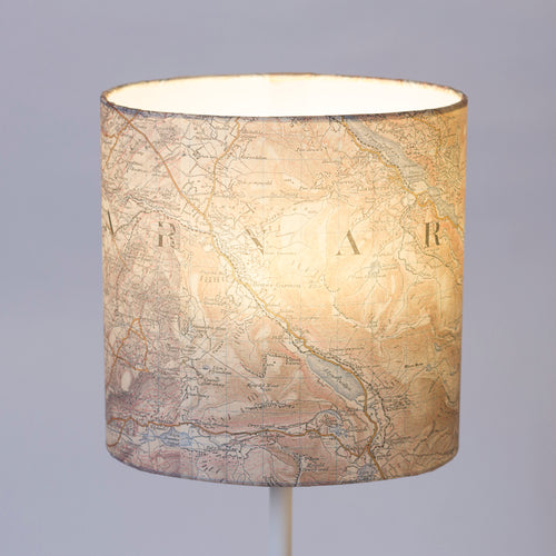 20cm(w) x 20cm(h) x 13cm(d) Oval Lamp Shade - Cassini Historical Map (1903 - 1910) Llanberis