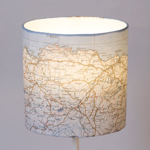 20cm(w) x 20cm(h) x 13cm(d) Oval Lamp Shade - Cassini Historical Map (1930's) Rhosybol, Bodewryd and Amlwch